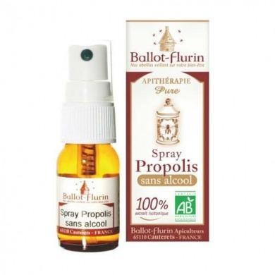 BALLOT-FLURIN - Spray Propolis 100% - Sans Alcool - 15ml