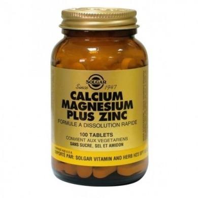 SOLGAR -  Calcium Magnesium Zinc - 100 comprimés
