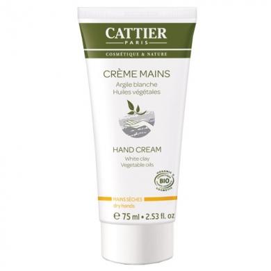 CATTIER -  Crème pour mains à l'argile blanche