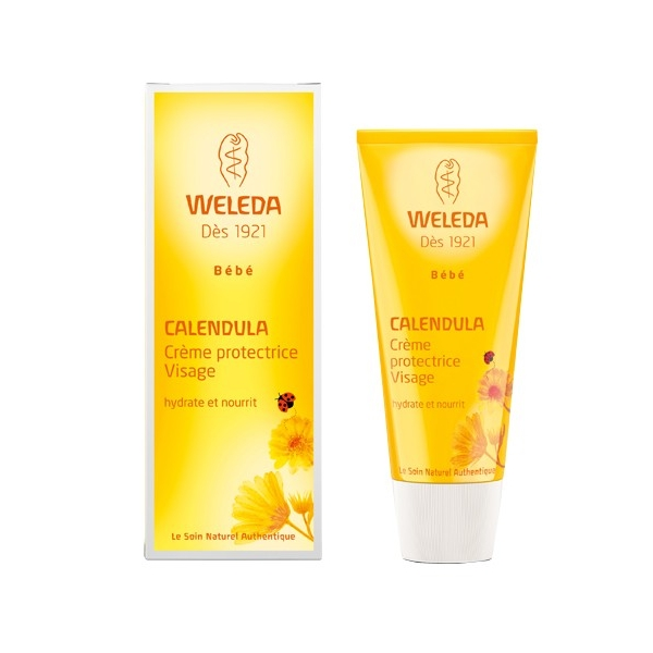 WELEDA - Crème protectrice visage bébé Weleda au calendula