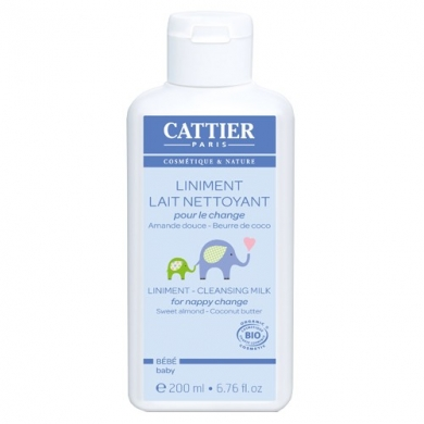 CATTIER -  Liniment lait crème pour le change 200ml Cattier