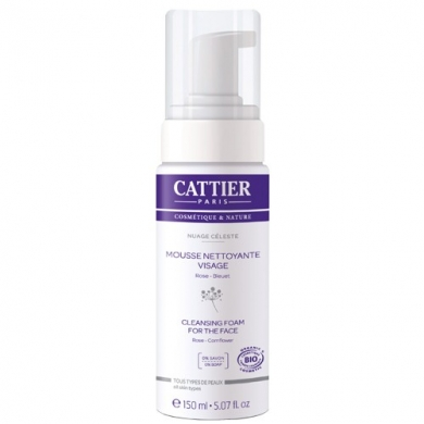 CATTIER -  Nuage Céleste Mousse nettoyante 150ml Cattier
