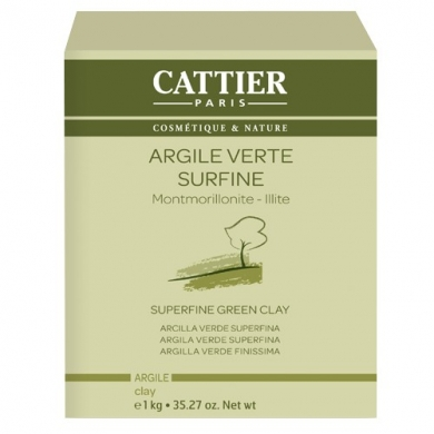 CATTIER - Argile verte surfine 1kg Cattier
