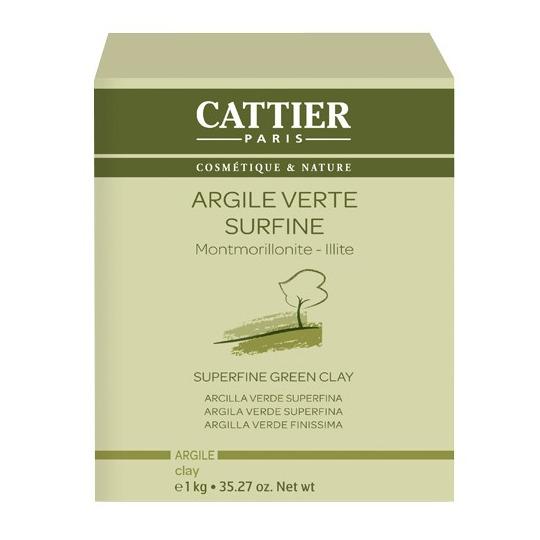 Argile verte surfine 1kg Cattier