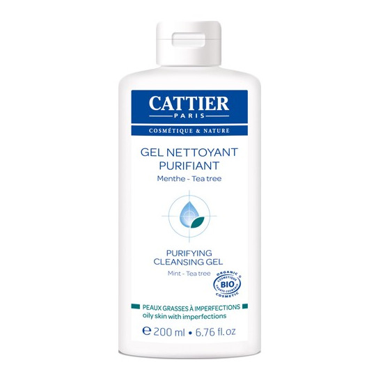 Gel nettoyant purifiant peaux jeunes Cattier
