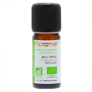 FLORAME -  Huile Essentielle Bio BASILIC TROPICAL 10ml