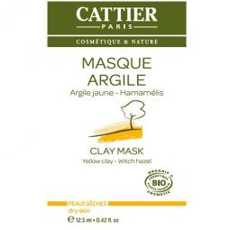 Masque à l'argile jaune unidose Cattier