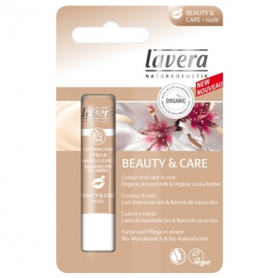 LAVERA -  Baume à Lèvres Beauty & Care Nude
