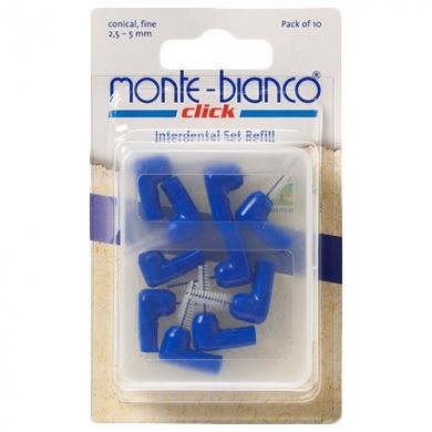 Têtes de rechange coniques bleues pour kit interdentaire