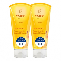 WELEDA - Lot de 2 crèmes lavantes bébé corps/cheveux