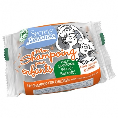 SECRETS DE PROVENCE - Shampooing solide pour enfants à la Lavande avec crochet