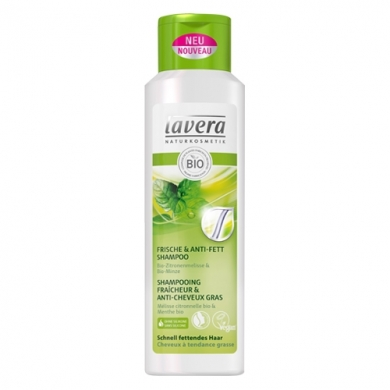 LAVERA -  Shampooing fraîcheur & anti-cheveux gras
