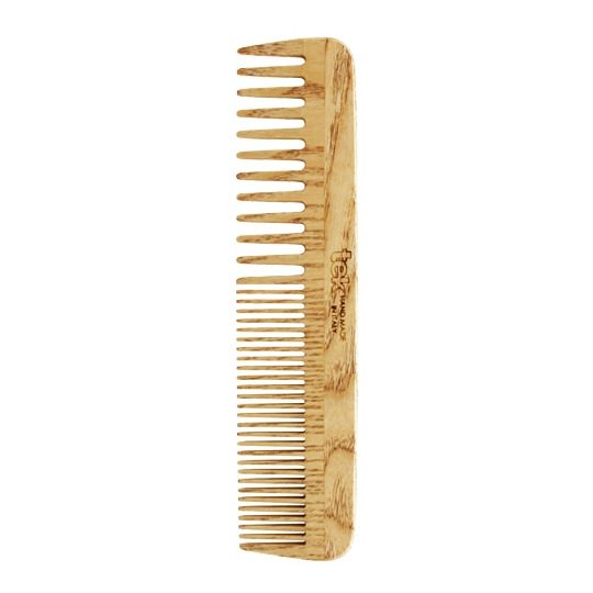 Grand peigne à dents larges & serrées frêne naturel