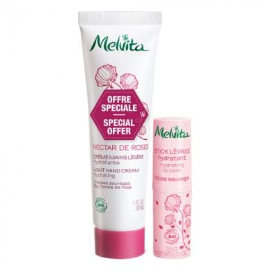 Kit Nectar de Roses Crème mains et stick lèvres