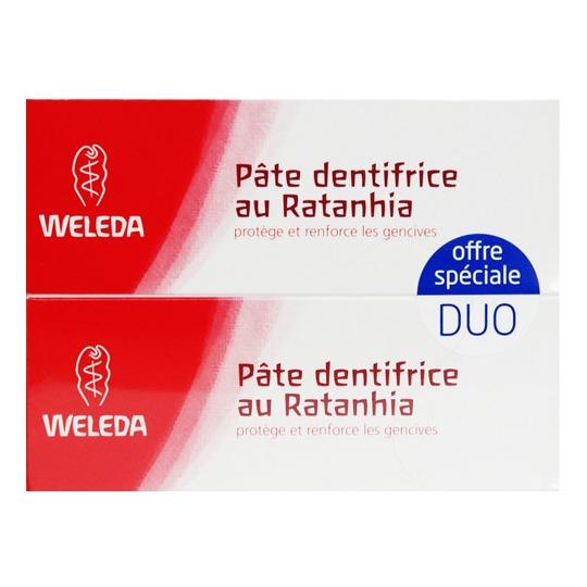 Duo Pâte Dentifrice Ratanhia Weleda
