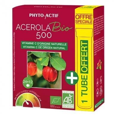 PHYTO-ACTIF - Acérola Bio 500 + 1 tube offert
