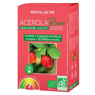 PHYTO-ACTIF - Acérola Bio 1000 Sans sucre