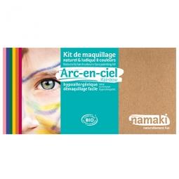 Kit maquillage 8 couleurs arc-en-ciel