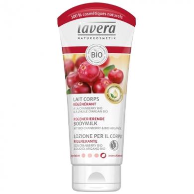 LAVERA - Huile-crème de douche régénérante Cranberry bio et huile d'Argan bio