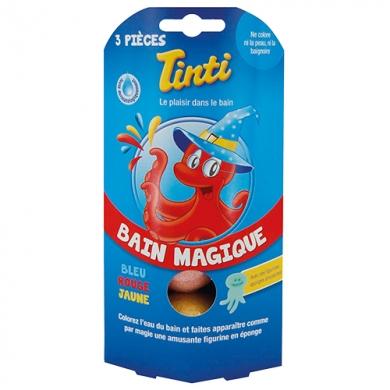 TINTI - Bain Magique X 3 (Bleu, Jaune, Rouge)