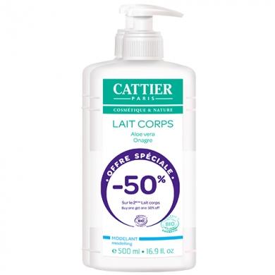 CATTIER - Duo Lait Corps Modelant Aloé Vera-Onagre