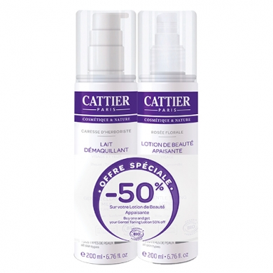 CATTIER - Duo Lait Démaquillant & Lotion Apaisante