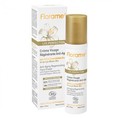 FLORAME - Crème Visage Régénérante Anti-Age Lys Perfection