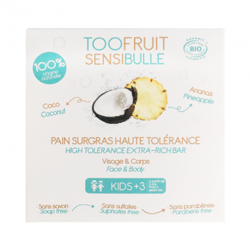 TOOFRUIT - Pain dermatologique surgras Sensibulle Coco Ananas