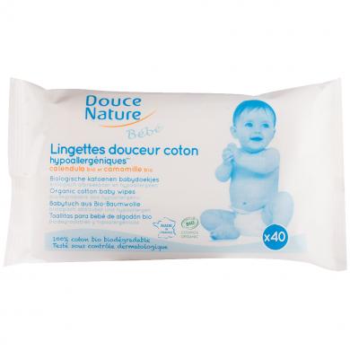 DOUCE NATURE - Lingettes bébé Biodégradables