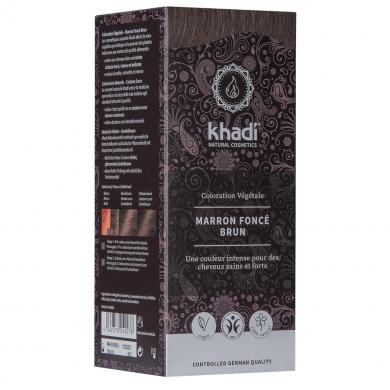 KHADI - Coloration naturelle aux plantes - Marron Foncé