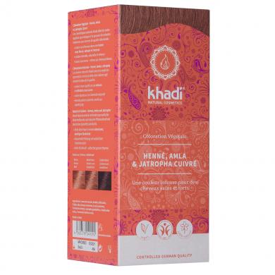 KHADI - Coloration naturelle aux plantes - Rouge : Henné, Amla & Jatropha