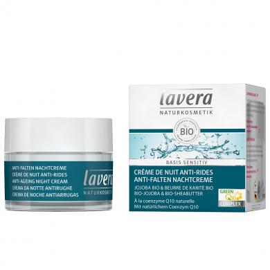 LAVERA - Crème de nuit anti-rides q10 basis