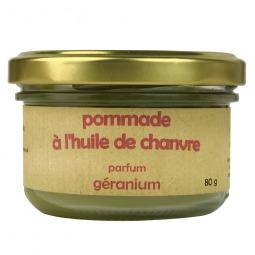 Pommade à l'huile de chanvre - géranium