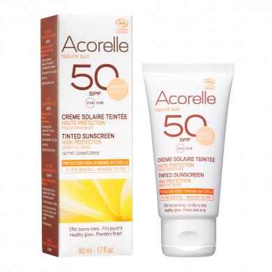 ACORELLE - Crème solaire teintée SPF 50 - abricot