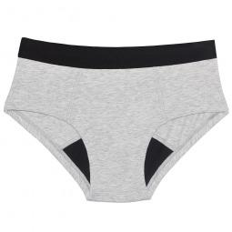 Shorty menstruel gris en coton bio - Brief - XS