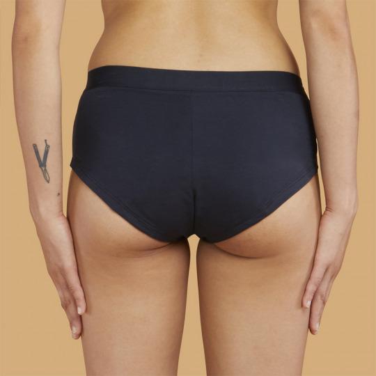 Shorty menstruel noir en coton bio - Brief