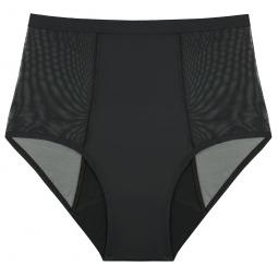 Culotte menstruelle taille haute noire - Hi-Waist