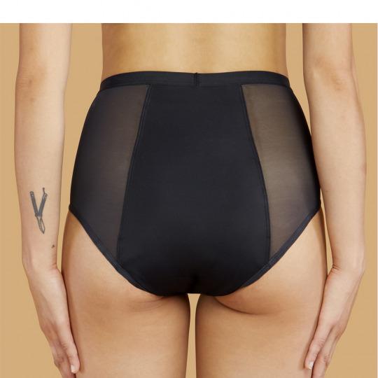 Culotte menstruelle taille haute noire