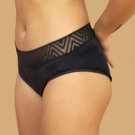 Culotte menstruelle noire - Hiphugger