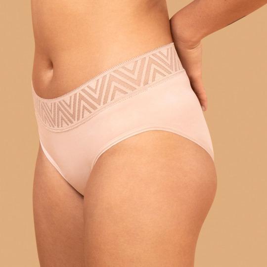 Culotte menstruelle beige - Hiphugger