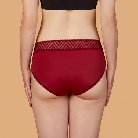 Culotte menstruelle rouge - Hiphugger