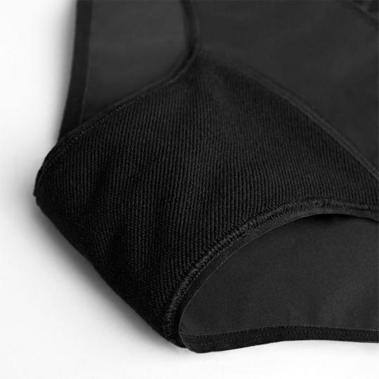 Culotte menstruelle noire - Super Hiphugger - Flux important