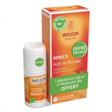 WELEDA - Duo huile arnica + déodorant argousier offert