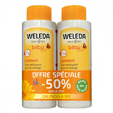 WELEDA - Duo liniment nettoyant pour le change au calendula