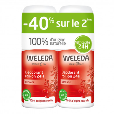 WELEDA - Duo déodorants roll-on 24h grenade