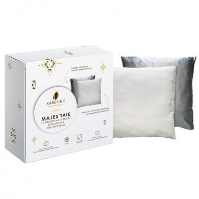 KARETHIC - Taie d'oreiller Tencel & Satin - Majes'taie