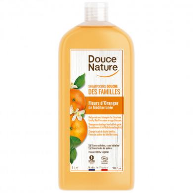 DOUCE NATURE - Shampooing douche des familles medicago et eau florale de cassis bio