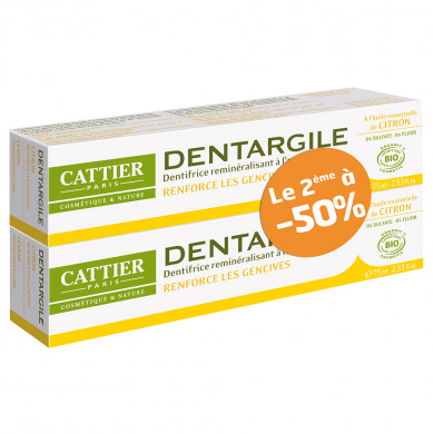 CATTIER - Duo dentargile gencives irritées citron