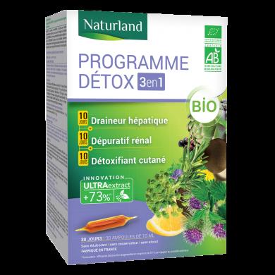 NATURLAND - Programme détox 3 en 1