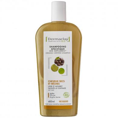 DERMACLAY - Shampooing spécifique cheveux secs et rêches